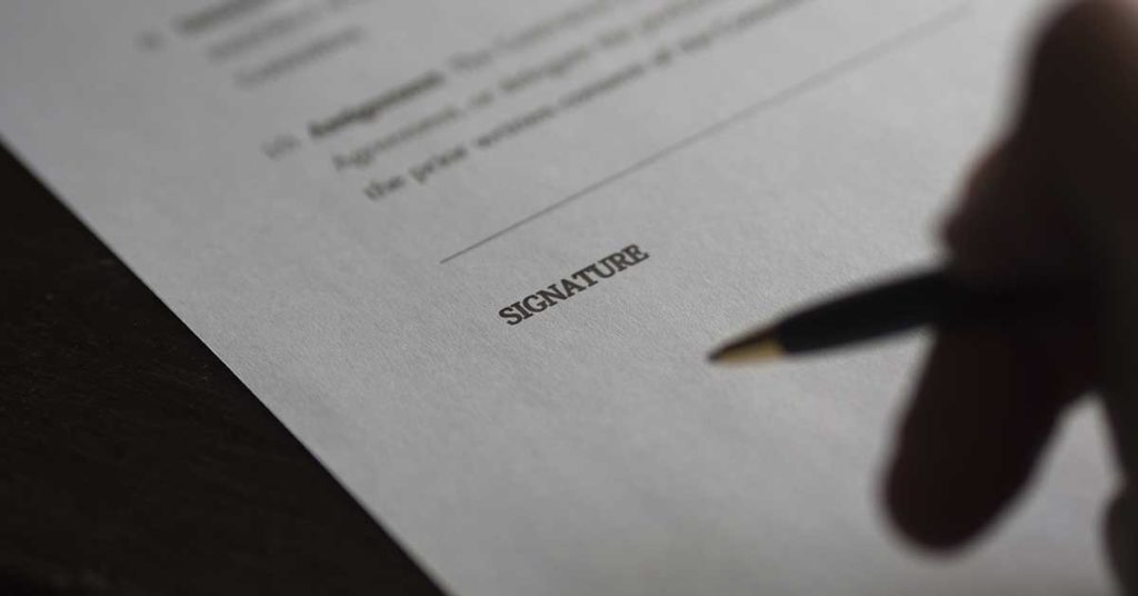 power of attorney fillable free forms, signature image